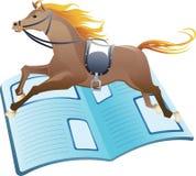 Notícia da corrida de cavalos ilustração do vetor