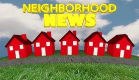 A notícia da vizinhança abriga a atualização da informação da comunidade Imagens de Stock Royalty Free