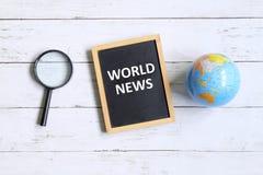 Notícia de mundo imagens de stock