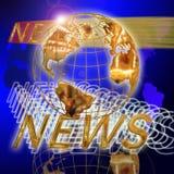 Notícia do globo Foto de Stock Royalty Free