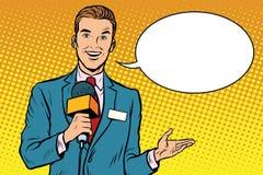 A notícia do radiodifusor é relatar vivo ilustração do vetor