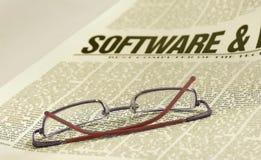 Notícia do software imagens de stock