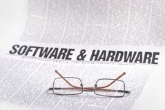 Notícia do software Foto de Stock