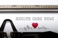 Notícia dos cuidados médicos Fotografia de Stock Royalty Free