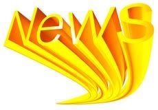 Notícia dourada Foto de Stock Royalty Free