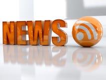 Notícia e rss Foto de Stock