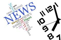Notícia e tempo Fotografia de Stock