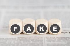 Notícia falsificada Fotos de Stock