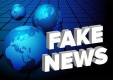 Notícia falsificada ilustração royalty free