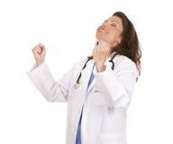 Notícia feliz do doutor fotos de stock royalty free