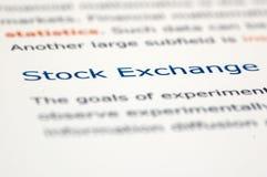 Notícia financeira Imagens de Stock Royalty Free