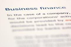 Notícia financeira Fotos de Stock