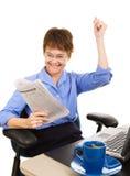 Notícia financeira - reunião dos estoques Imagens de Stock Royalty Free