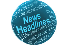 A notícia headlines a tecla Foto de Stock