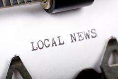 Notícia local Imagens de Stock Royalty Free