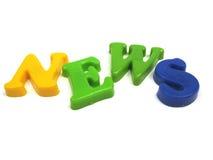 Notícia nova Foto de Stock
