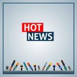 Notícia quente ilustração do vetor
