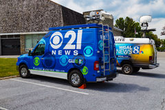 Notícia TV21 Van de CBS Imagens de Stock Royalty Free