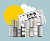 Notícias de última hora Imagem de Stock