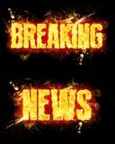 Notícias de última hora do fogo Foto de Stock