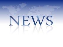 Notícias de última hora - molde do boletim de notícias com mapa do mundo Foto de Stock Royalty Free