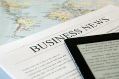 Notícias de negócios Fotografia de Stock Royalty Free