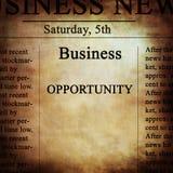 Notícias de negócios Imagens de Stock Royalty Free