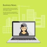 Notícias de negócios Foto de Stock Royalty Free