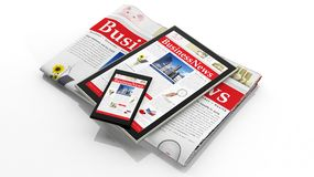 Notícias de negócios de Digitas Imagens de Stock