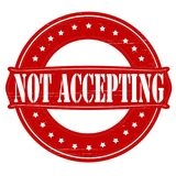 Not accepting. Stamp with text not accepting inside, illustration vector illustration