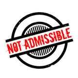 Not Admissible rubber stamp Stock Images