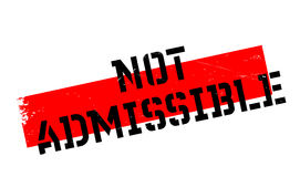Not Admissible rubber stamp Royalty Free Stock Photos