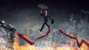 Not afraid to risk. Mixed media Stock Image