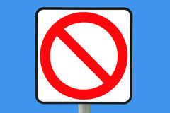 Not Allowed. No entry sign computer color filled vector illustration