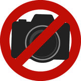 Not allowed camera photos sign Royalty Free Stock Photography