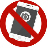 Not allowed mobile photos sign Stock Photography