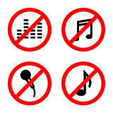 Not allowed music sign vector Royalty Free Stock Images