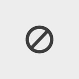 Not Allowed Sign in a flat design in black color. Vector illustration eps10 Royalty Free Stock Image