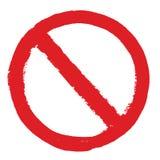 Not Allowed Sign grunge. Not Allowed Sign. Grunge hand drawn illustration Stock Photography