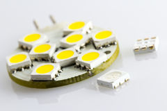 Not assigned three-chip SMD also embedded ready. On G4 bulbs Royalty Free Stock Image