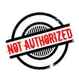 Not Authorized rubber stamp Royalty Free Stock Image