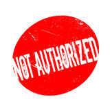 Not Authorized rubber stamp Stock Image