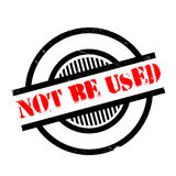 Not Be Used rubber stamp. Grunge design with dust scratches. Effects can be easily removed for a clean, crisp look. Color is easily changed Royalty Free Stock Photography
