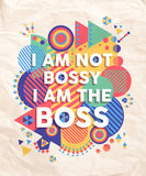 Not Bossy but Boss quote poster design royalty free stock photos