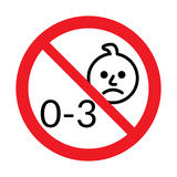 Not for children under 3 years of age icon Stock Images