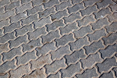 Not clean walkway bricks Stock Photography