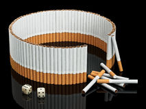 Not completed protection from cigarettes Royalty Free Stock Photos