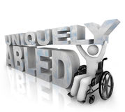 Not Disabled - Uniquely Abled Royalty Free Stock Photos