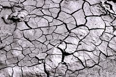 Not enough water. A photo depicting dry, cracked earth Royalty Free Stock Photography