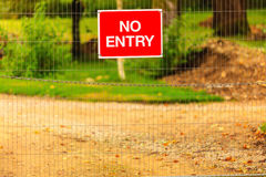 Not Enter sign outdoor Royalty Free Stock Photo